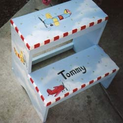 Personalized Airplane Step Stool