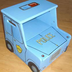Police Car Step Stool