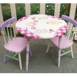 Great Tea Time Table And Chair Set