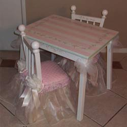 Rectangle Princess Table and Chair Set