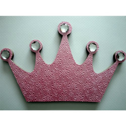 3D Pink Princess Crown Wall Plaque