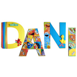 Elmo and Friends 3D Wall Letters