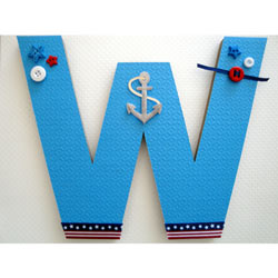Little Sailor's 3D Wall Letter