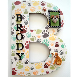 B Paw Doggy 3D Letter