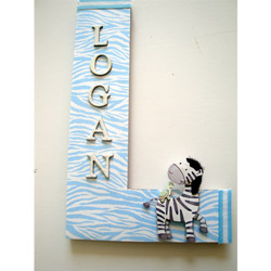 Zebra Stripes Wall Letter