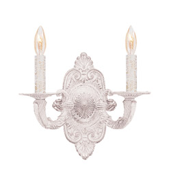Wrought Iron Double Light Sconce