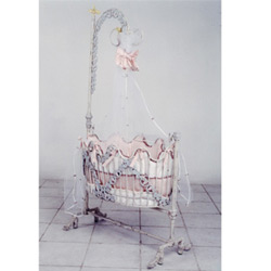 Silver Grapevine Baby Cradle