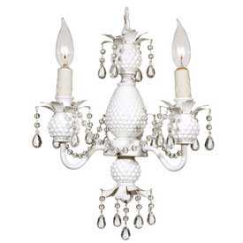 3 Arm Milk Glass Chandelier