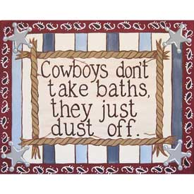 Cowboys Dust Off Wall Art