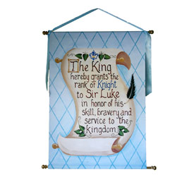 Knight Scroll Giclee Wall Hanging