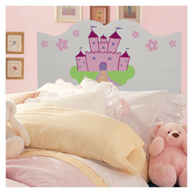 Handpainted Castle Twin Headboard