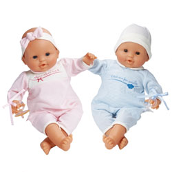Classic Girl and Boy Twin Dolls