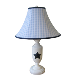 Windowpane Blue Lamp