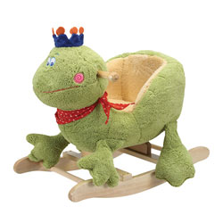 Charming Frog with Crown Rocker