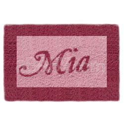 Rectangle Bordered Name Rug
