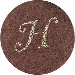 Round Animal Initial Rug