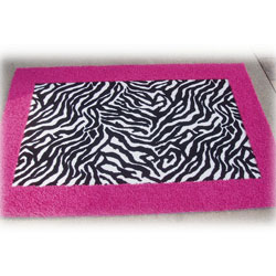 Animal Print Border Rug