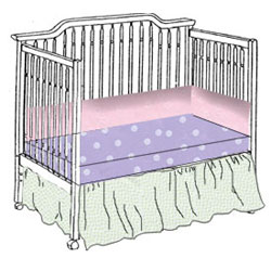 Mix  & Match 100%  Cotton Crib Bedding