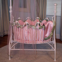 Satin 'n Minky Cradle Bedding