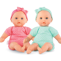 Let's Play Pink and Green Twin Baby Dolls