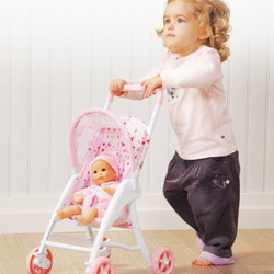Doll Stroller and Doll Combo Set
