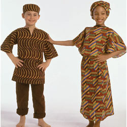 West African Girl and Boy Costumes