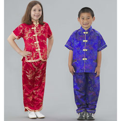 Chinese Girl and Boy Costume