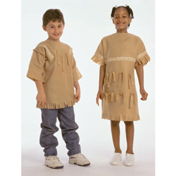 Plains Indian Girl and Boy Costumes