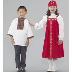 Russian Boy and Girl Costumes