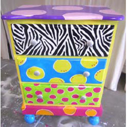 Funky Three Drawer Night Stand