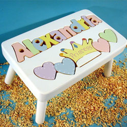 Princess Name Puzzle Stool