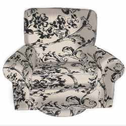 Child's Toile Swivel Chair