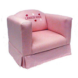 Child's Personalized Chair With Box Skirt