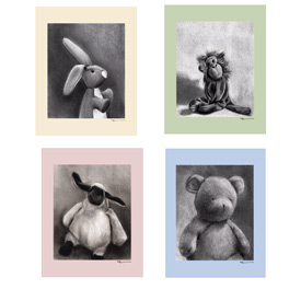 Charcoal Animals Canvas Wall Art