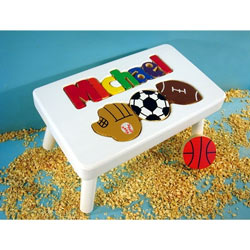 Sports Name Puzzle Stool
