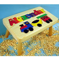 Choo Choo Train Name Puzzle Stool