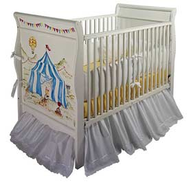 Big Top Circus Sleigh Crib