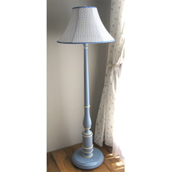 Column Blue Floor Lamp