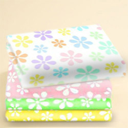 Pastel Floral Cotton Woven Crib Sheet