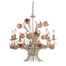 Rose Tulips Chandelier