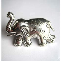 Metal Elephant Furniture Knob