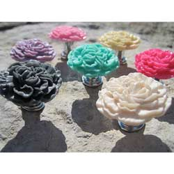 Peony Flower Furniture Knob