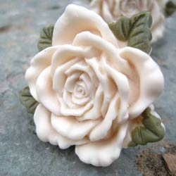 Rose Drawer Knob with Leaf