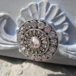 Swarovski Crystals Round Furniture Knob