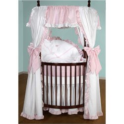 Darling Drapes Round Crib Bedding Set