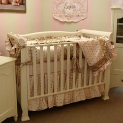 Pink Chocolate Crib Bedding Set