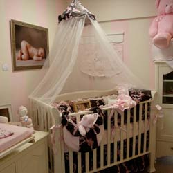 Ribbons and Roses Crib Bedding Set