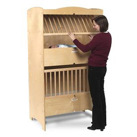 Double decker crib by whitney bros for Double decker crib