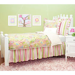 Spring Paisley Twin Bedding