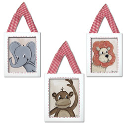 Jungle Animals Wall Hangings